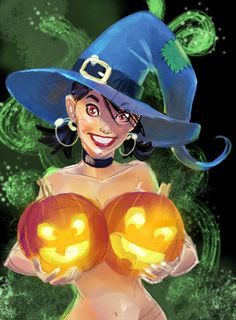#Halloween #Pinup Art #pinupgirl #halloween #witch #witches