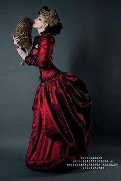 Red Victorian Steampunk Dress