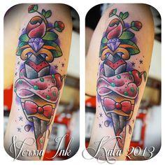 https://www.facebook.com/VorssaInk, http://tattoosbykata.blogspot.fi, tattoo, tatuointi, kata puupponen, vorssa ink, forssa, finland, rose, cup cake, dagger, pin up