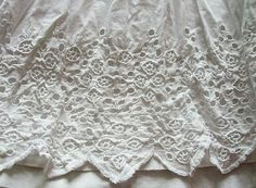 Lululiz in Vintageland: 3 19th C French Petticoats, Broderie Anglaise trim