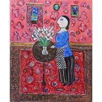 Dora Holzhandler - Lady Arranging Lilies