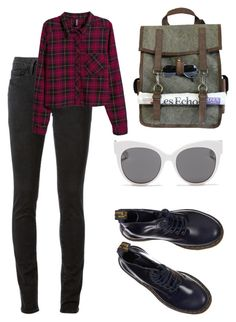 """A5"" by danielabmaurizi ❤ liked on Polyvore featuring Kjøre Project, Dr. Martens, Blanc & Eclare, Frame Denim and H&M"