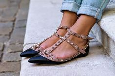 Fashion Cognoscente: The Look for Less: Valentino Rockstud Shoes