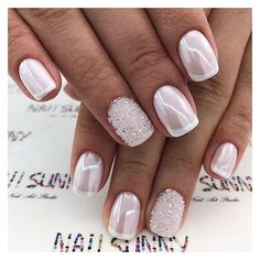 39 Top Newest Homecoming Nails Designs Popular Homecoming Nail Trends picture 1 de arte de uñas Gorgeous Nails, Pretty Nails, Pretty Toes, Wedding Nails Design, Wedding Manicure, Wedding Gel Nails, Bridal Pedicure, Bridal Nails Designs, Bridal Nail Art