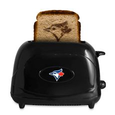 Add some team spirit to your breakfast with the sleek, retro-style MLB ProToast Elite Toaster. The two-slice toaster toasts your favorite baseball team's logo right onto your bread. The logo is also featured on the outside of the toaster. Baseball Toronto, Jay Rock, Josh Donaldson, Love Mom, Toronto Blue Jays, Go Blue, Mlb, Toasters, Baseball Stuff