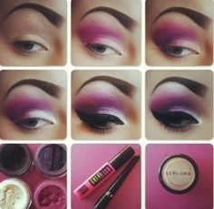 Dramatic Purple Smokey Eye #makeup
