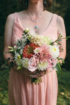 September bridesmaid bouquet Flowers by Love 'n Fresh Flowers; Photo by Shannon Collins