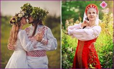 Wedding dresses in Slavic style: models and styles of ancient costumes with photos