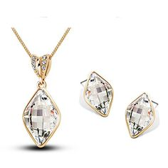YouBella Presents L'amore Collection Crystal Jewellery Pendant Set / Necklace Set with Earrings for Girls and Women #Girlsfashionsense #Fashionsense #fashions #Jewellery #womensaccessories #BuywomensEaring #Buyjewellery