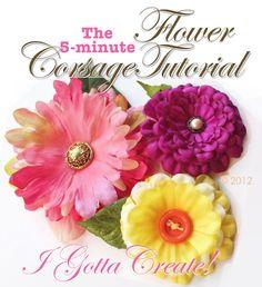 I Gotta Create!: Silk Flower Corsage Pin Tutorial
