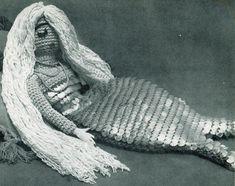 Mermaid Pajama Bag (free crochet pattern)