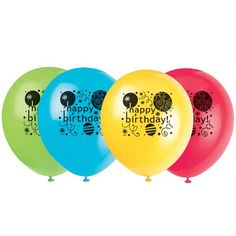 12 Latex Breezy Birthday Balloons 8ct >>> Continue to the product at the image link.