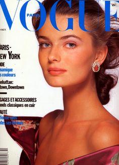 Paulina Porizkova, Vogue Paris, October 1988. Photo Patrick Demarchelier