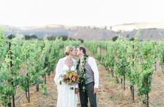 Hawaiian-inspired Santa Barbara vineyard wedding -repinned from SB County, California marriage officiant https://OfficiantGuy.com #weddingssantabarbara #sbofficiant