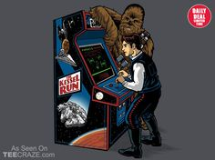 Kessel Run Arcade T-Shirt - http://teecraze.com/daily-deal-4/ - Designed by blakely737 #tshirt #tee #art #fashion #StarWars