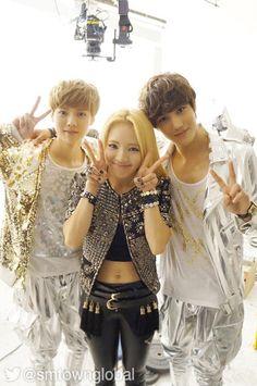 EXO - Luhan [EXO-M] & Kai [EXO-K] with Hyoyeon [SNSD] <3