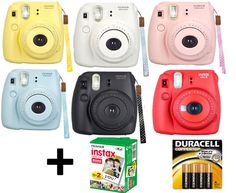 NEW Fuji instax mini 8 Fujifilm instant Film Camera +Battery +20 Film All Colors in Cameras & Photo | eBay