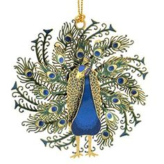ChemArt 25 Collectible Keepsakes Peacock Christmas Ornament ** Learn more by visiting the image link.