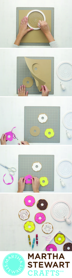 We donut know what we would do without our Martha Stewart Crafts Circle Cutter!