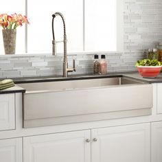 42 Optimum Stainless Steel Farmhouse Sink Beveled Apron With