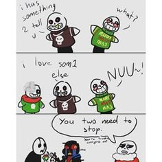 THIS SHOULD TOTALLY BE CANON LIKE AFTER CPAU GASTER AND ERROR HANG OUT AND  PLAY WITH ERROR'S PUPPETS AND ACT OUT SCENARIOS LIKE TOTAL NERDS :D (I would be sooooo happyyyy)