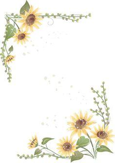 Modelo de convite simples de girassol com fundo branco para imprimir e editar. Watercolor Sunflower, Watercolor Flowers, Watercolor Paintings, Printable Lined Paper, Sunflower Party, Sunflowers And Daisies, Sunflower Wallpaper, Borders And Frames, Writing Paper