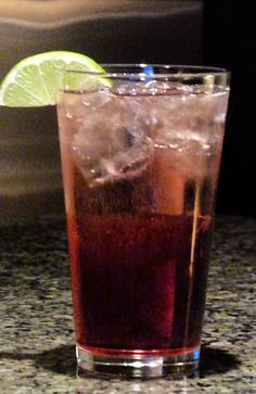 raspberry sour puss, cranberry juice, sprite, squeezed lime to taste/garnish
