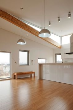 #Wooden floors in this #modern and #minimalist home