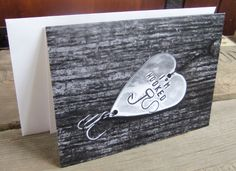 Valentine's Day Card for Husband Fishing Card Birthday Card I'm Hooked Fish Card for Boyfriend Rustic Fish Theme XOXO Love You Anniversary