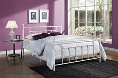 Dorel Home Products Manila Metal Bed - White / Full