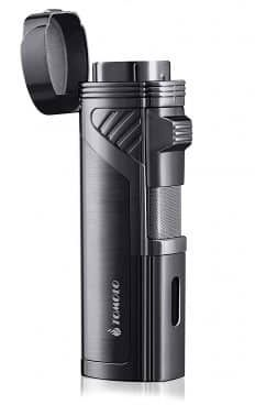 Buy TOMOLO Torch Lighter Quadruple 4 Jet Flame Refillable Butane Cigar Lighter with Cigar Punch,Gift Box(Gunmetal) Best Torch, Light Words, Cigar Lighters, Torch Light, Buy Weed Online, Childproofing, Top 14, Cigars, Punch