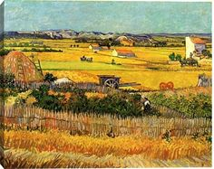 off Hand made oil painting reproduction of Harvest At La Crau With Montmajour In The Background, one of the most famous paintings by Vincent Van Gogh. In the year of the Post-Impressionist painter Vincent Van Gogh painted. Vincent Van Gogh, Van Gogh Museum, Abstract Canvas, Oil Painting On Canvas, Abstract City, Painting Abstract, Painting Art, Van Gogh Arte, Theo Van Gogh