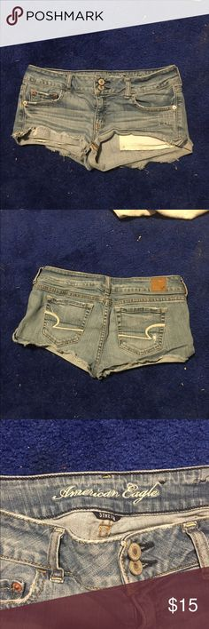 American Eagle Shorts Very short American Eagle Shorts. Super fashionable and go great with almost anything. Have been worn several times but still have a lot of life left in them. Selling because I got new shorts for Christmas. American Eagle Outfitters Shorts Jean Shorts