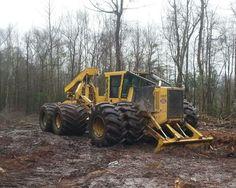 Semitrckn Woods Equipment, Logging Equipment, Heavy Equipment, Old Tractors, John Deere Tractors, Woodland House, Engin, Heavy Machinery, Peterbilt