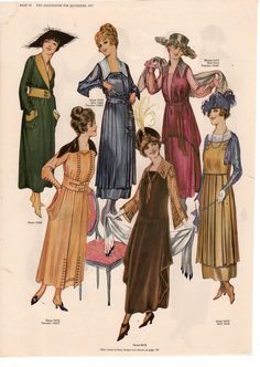 Days Gone By (aka:Kittyinva@tumblr) December, 1917 fashion from The Delineator.