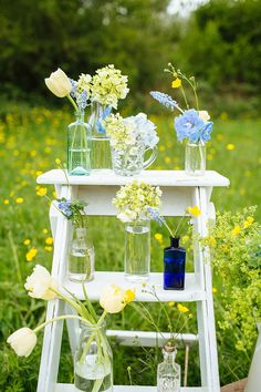 Late Spring/Early Summer Rustic Outdoor Wedding Inspiration in Shades of Yellow and Blue – Wedding Centerpieces Chic Wedding, Summer Wedding, Wedding Blog, Trendy Wedding, Wedding Reception, Garden Wedding, Early Spring Wedding, Wedding App, Dream Wedding