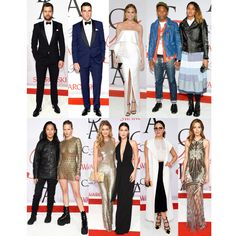 Check out the Michael's Girls favorite red carpet looks from the 2015 CFDA Fashion Awards!!!Top Row: Joshua Jackson, Zachary Quinto, Chrissy Teigen, Pharrell Williams and Helen lasichanhBottom Row: Alexander Wang and Anna Ewers, Sisters Gigi & Bella Hadid, Katharine McPhee, Michelle Monaghan