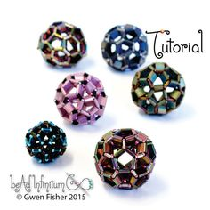 This tutorial will show you how to weave beautifully spherical buckyballs with two-holed Tila beads (or half Tilas), bugles and seed beads. The design is based upon the structure of a soccer ball. When made with shiny metallic beads, it has lots of facets that reflect light like a disco ball. The beaded bead is remarkably hollow with lots of large holes that let you see inside. This tutorial is suitable for intermediate bead weavers who know have already beaded a dodecahedron of some sort…