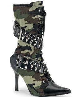 "Women's ""Militant"" Boots by Funtasma (Camo) #InkedShop #boots #camo #heels #shoes #footwear"