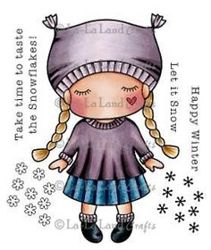 New La La Land Crafts PAPER DOLL MARCI SWEETHEART Cling Rubber Stamp Girl Heart