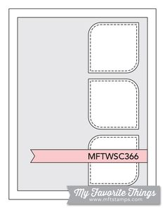 MFT Card Challenges: Wednesday Sketch Challenge - Sketch 366 #mftstamps