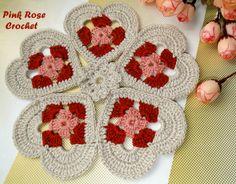 PINK ROSE CROCHET /: Coração Centrinho Crochet Heart