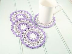 Mandala Wheel Crochet Coasters Pattern