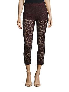 VALENTINO Perforated Cotton-Blend Pants