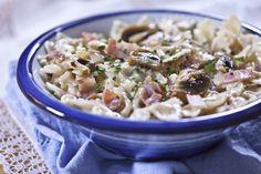 Φαρφάλες με μπέικον και μανιτάρια Risotto, Potato Salad, Cooking Recipes, Ethnic Recipes, Easy, Food, Cooker Recipes, Chef Recipes, Meals