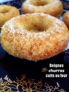 Beignes Churros cuits au four - Miam ! Des biscuits Churros, Churro Donuts, Doughnuts, Biscuit Cinnamon Rolls, Cooking Time, Cooking Recipes, Biscuits, Cheat Meal, Cookies