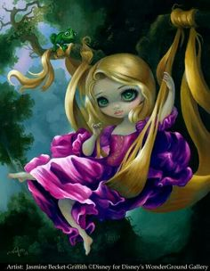 Rapunzel in the Swing by Jasmine Becket-Griffith