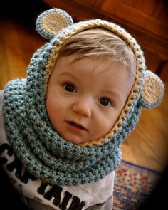 Baby cowl, with ears!