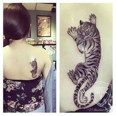Love this tiger tattoo design!! By @plankton_yeh