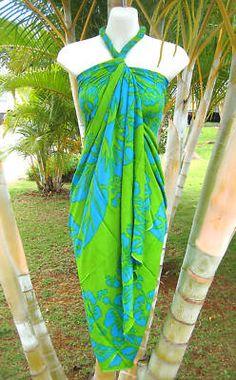 Sarong Pink Brown Turtle Hawaiian Luau Pareo Wrap Dress